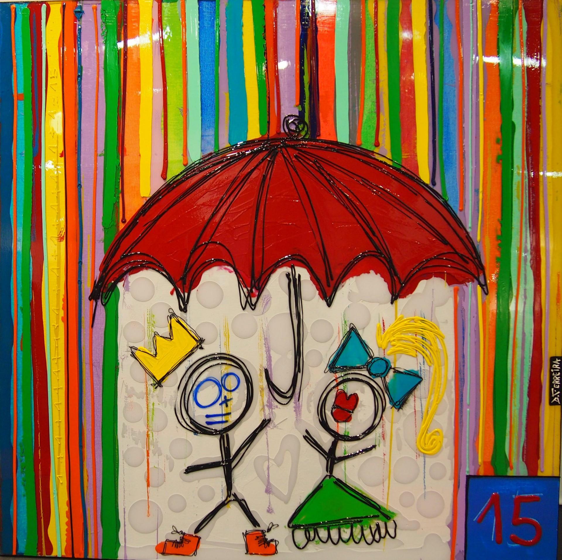Toto et sa femme sous le parapluie